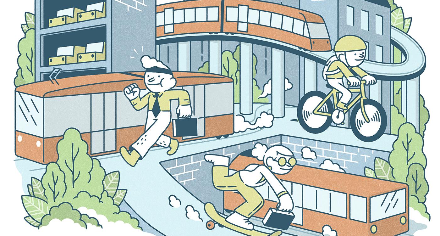 Tulevaisuudessa yhä useampi kaupunkiliikkuja vaihtaa oman auton julkisiin kulkuneuvoihin